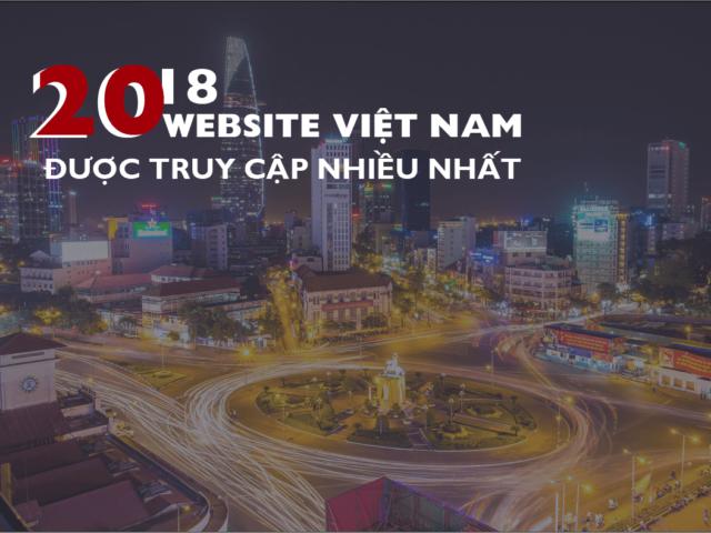 20 web VN truy cập nhiều 2018