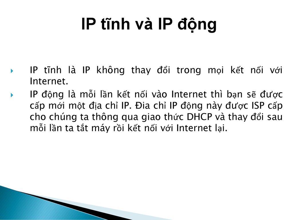 IP tĩnh là gì